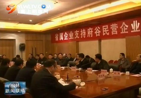 点击观看《省属企业与府谷民营企业签约15亿元合作项目》