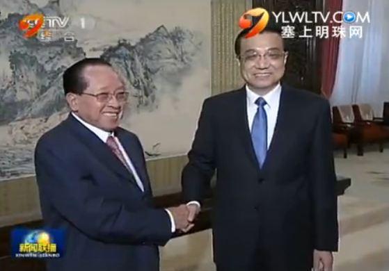 李克强会见柬埔寨副首相
