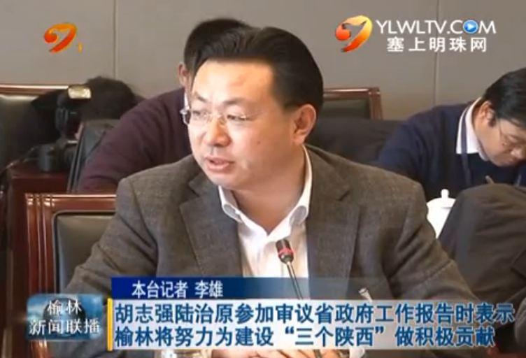 """胡志强陆治原参加审议省政府工作报告时表示榆林将努力为建设""""三个陕西""""做积极贡献"""