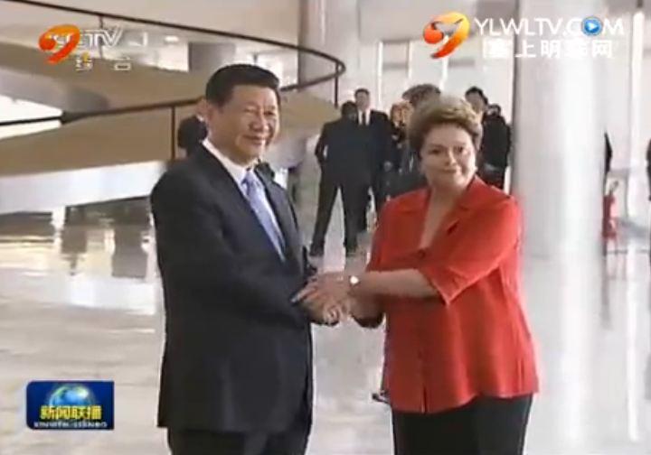 点击观看《习近平出席巴西总统举行的欢迎仪式》