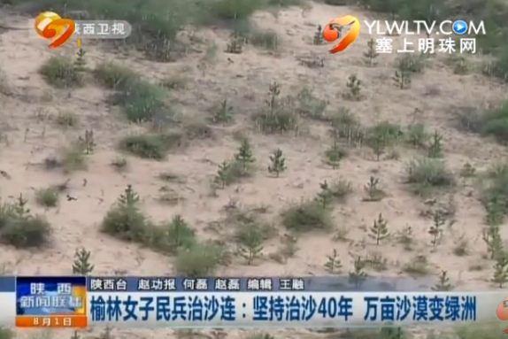 榆林女子民兵治沙连:坚持治沙40年_万亩沙漠变绿洲