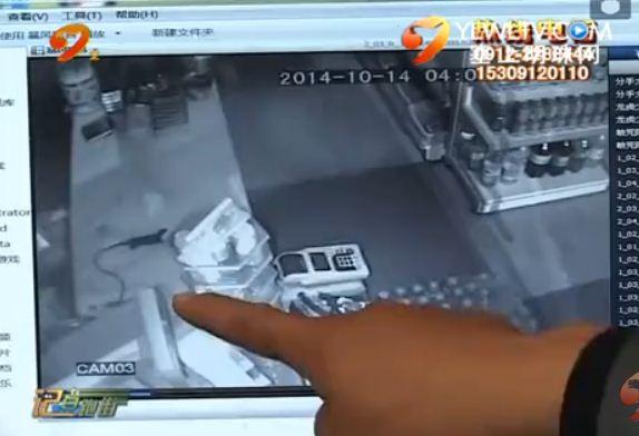 点击观看《小偷半夜行窃 被监控拍个正着》