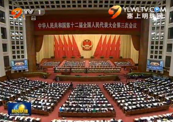 全国政协十二届三次会议举行第二次全体会议