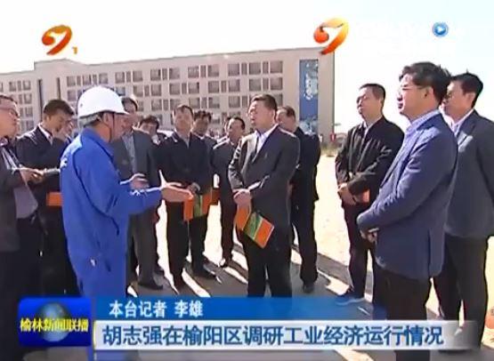 胡志强在榆阳区调研工业经济运行情况