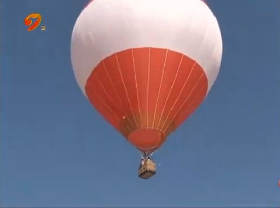 """记者体验:高空看榆林 体验""""热气球之旅"""""""