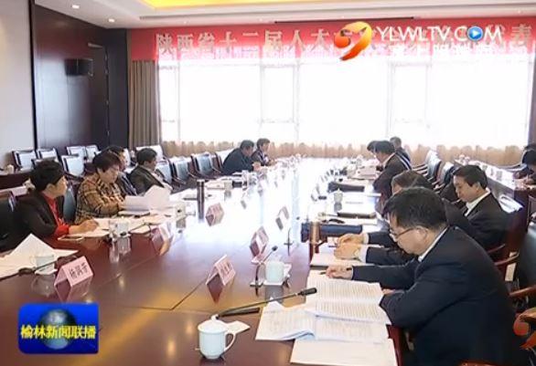 省十二届人大六次会议榆林代表团审议政府工作报告