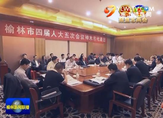 点击观看《李春临在参加神木 佳县代表团审议时指出 解放思想 实事求是 团结一致奔小康》