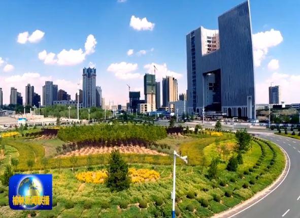 点击观看《花开塞上 绿满驼城》